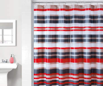 Non Combo Product Selling Price 60 Original List 600 Just Home Red Stripe PEVA Shower Curtain