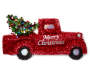 Red Tinsel Pickup Truck Wall Decor silo front