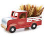 Red Truck Heather Floral Tabletop Decor silo angled