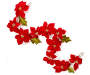 Red Velvet Poinsettia Garland 6 feet silo front