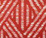 Red Weave Print and Stripe Reversible Outdoor Seat Pads 2 Pack Weave Swatch