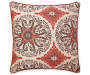 Red and Brown Ricarda Oversized Throw Pillow 24 inch x 24 inch silo front