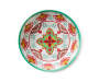 Red and Green Medallion Melamine Salad Bowl silo front top view