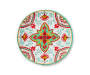 Red and Green Medallion Melamine Salad Plate silo front