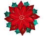 Red and Green Poinsettia Cutwork Placemat silo front