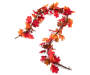 Red and Orange Glitter Maple Leaf Garland 5.5 Feet Silo Image