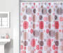 Red and Tan Medallions PEVA Shower Curtain 72in  bathroom setting