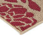 Red and Tan Nicolet Accent Rug 2 Feet by 2 Feet 11 Inch Close Up Detail Silo Image