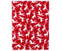 Red and White Reindeer Soft Throw silo front
