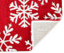 Red and White Snowflake Accent Rug 18 inch x 30 inch silo front corner flip