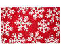 Red and White Snowflake Accent Rug 18 inch x 30 inch silo front