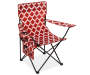 Red and White Tile Fashion Quad Chair Silo