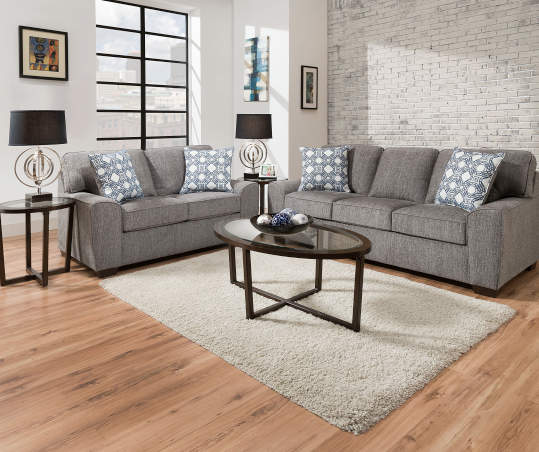Lane Home Solutions Redding Gray Sofa
