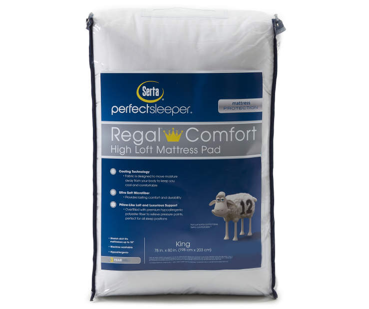 Regal Comfort Cooling King Mattress Pad Silo In Packaging