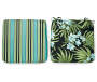 Rio Tropical Aqua Outdoor Seat Cushions 2 Pack Both Sides Up Silo Image