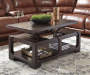 Rogness Rustic Lift Top Coffee Table lifestyle living room