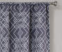 Rosario Charcoal Geo Trellis Room-Darkening Single Curtain Panel 63 inches Cropped Lifestyle