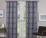 Rosario Charcoal Geo Trellis Room-Darkening Single Curtain Panel 63 inches LIfestyle