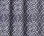 Rosario Charcoal Geo Trellis Room-Darkening Single Curtain Panel 95 inches Swatch