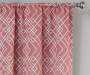 Rosario Coral Geo Trellis Room-Darkening Single Curtain Panel 63 inches Cropped Lifestyle
