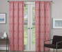 Rosario Coral Geo Trellis Room-Darkening Single Curtain Panel 95 inches Lifestyle