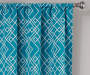 Rosario Teal Geo Trellis Room-Darkening Single Curtain Panel 63 inches Cropped Lifestyle