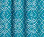 Rosario Teal Geo Trellis Room-Darkening Single Curtain Panel 63 inches Swatch