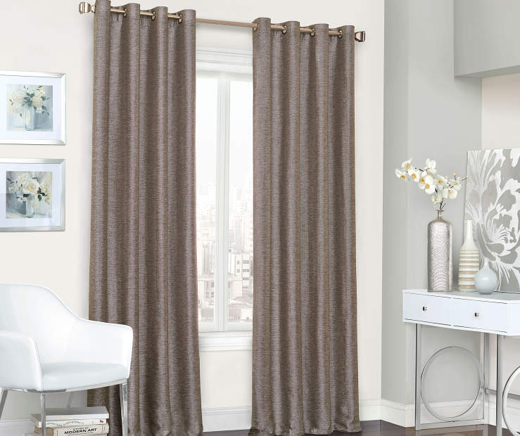 Roscoe Chocolate Blackout Curtain Panel 84 Inches Window ViewRoscoe Chocolate Blackout Curtain Panel 84 Inches Window View