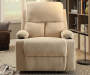 Rosia Beige Linen Recliner Lifestyle Front View