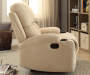 Rosia Beige Linen Recliner Lifestyle Right Side View