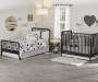 Rowan Valley Linden Black Baby Crib lifestyle