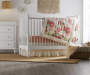 Rowan Valley Linden White Baby Crib lifestyle