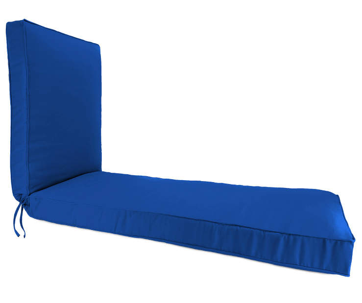 Royal Blue Box Edge Chaise Cushion silo side view