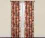 Russet Brown and Orange Colby Spice Room Darkening Curtain Panel Pair 84in lifestyle