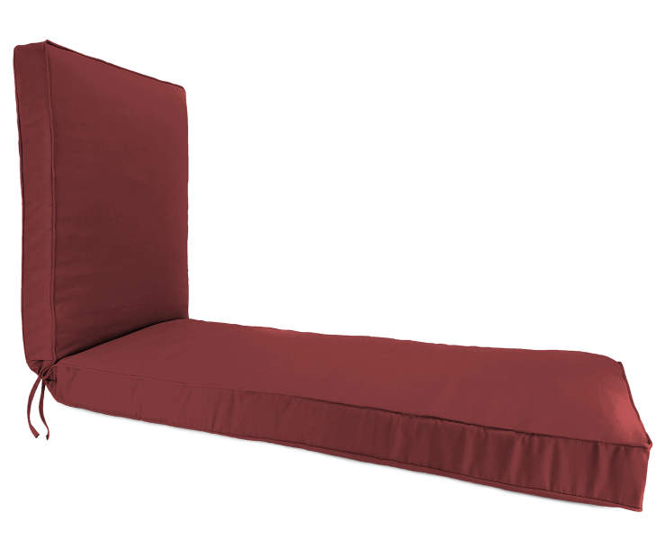 Rust Red Box Edge Chaise Cushion silo side view