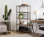 Rustic 5 Shelf Bookcase Lifestyle Office