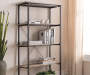 Rustic 5-Shelf Bookcase Lifestyle Image 1