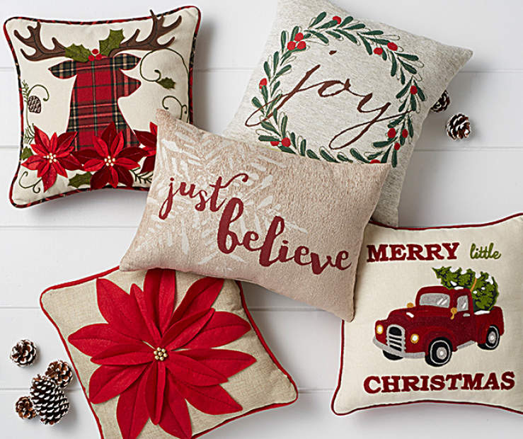 this christmas its easy to decorate your living room or bedroom using delightful throw pillows with eye catching designs - Christmas Decorative Pillows