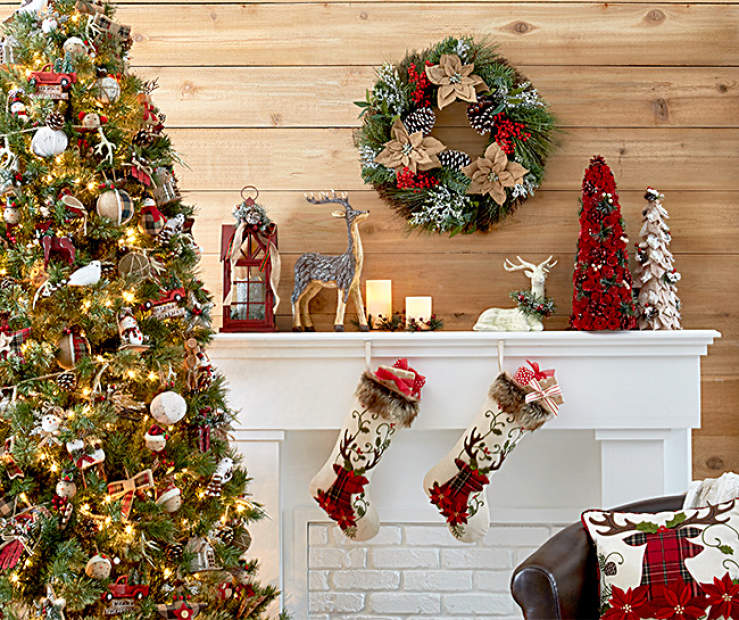 Big Lots Christmas.Rustic Living Room Christmas Collection Big Lots