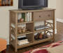 Rustic Pine 5 Shelf TV and Media Center lifestyle