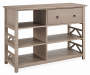 Rustic Pine 5 Shelf TV and Media Center silo angled