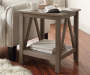 Rustic Pine End Table lifestyle