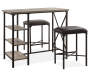Rustic Table and Stools 3 Piece Bar Set lifestyle living room