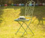 "S/2 37.50""H Metal Mint Green Folding Patio Dining Chair"