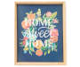 SB FRAMED PLAQUE FLORAL HOME SWEET 13X16