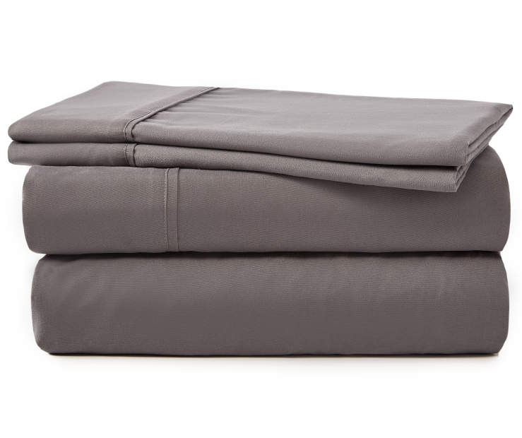 SERTA KING SHEET SET CHARCOAL