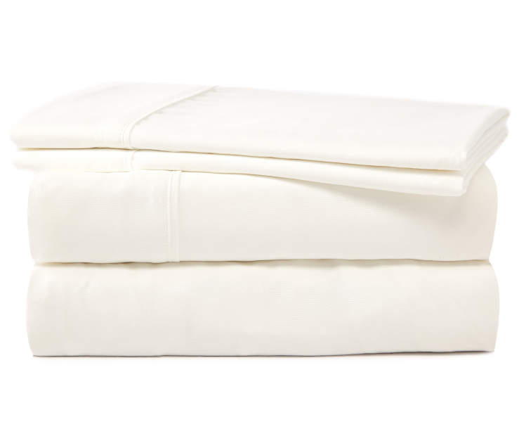 SERTA QUEEN SHEET SET WHITE