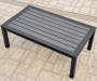 SHADOW CREEK ALL WEATHER WICKER DEEP SEATING SET - FAUX WOOD SLAT TOP COFFEE TABLE