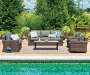 SHADOW CREEK ALL WEATHER WICKER DEEP SEATING SET - LOVE SEAT