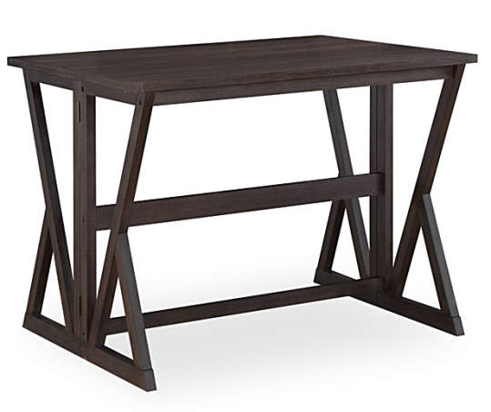 Espresso Brown Folding Dining Table Big Lots